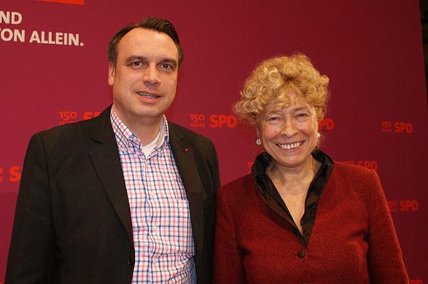 Gemeinsam mit Gesine Schwan auf dem Bundesparteitag der SPD