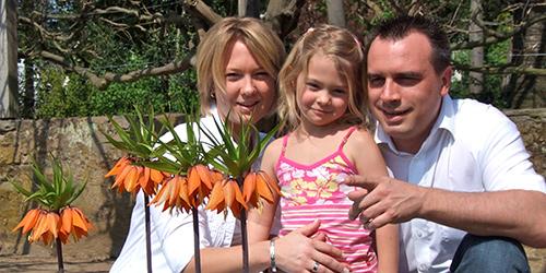 Andreas Parr mit Familie