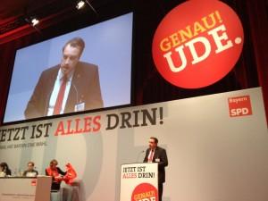 Auf dem Landesparteitag der BayernSPD in Augsburg