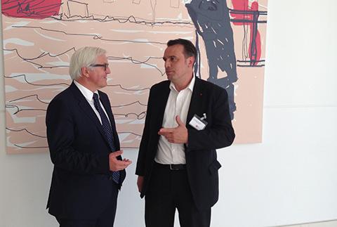 Im Gespräch mit dem Fraktionsvorsitzenden Frank-Walter Steinmeier