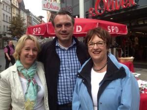 Gemeinsam für den Wechsel: Martina Fehlner (Landtagskandidatin für den Stimmkreis Aschaffenburg-West), Brigitte Zypries und ich