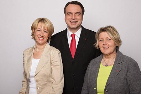 Gemeinsam für unsere Region - mit Martina Fehlner (l.) und Eva Trageser-Heininger